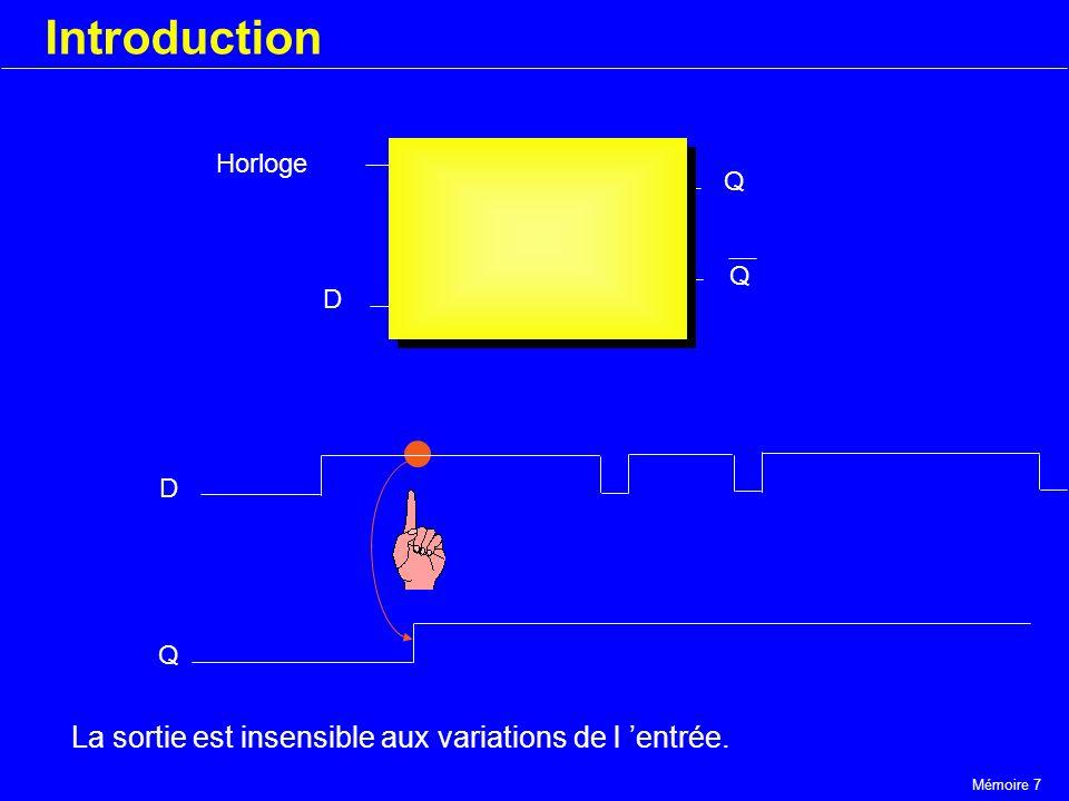 Introduction La sortie est insensible aux variations de l 'entrée.