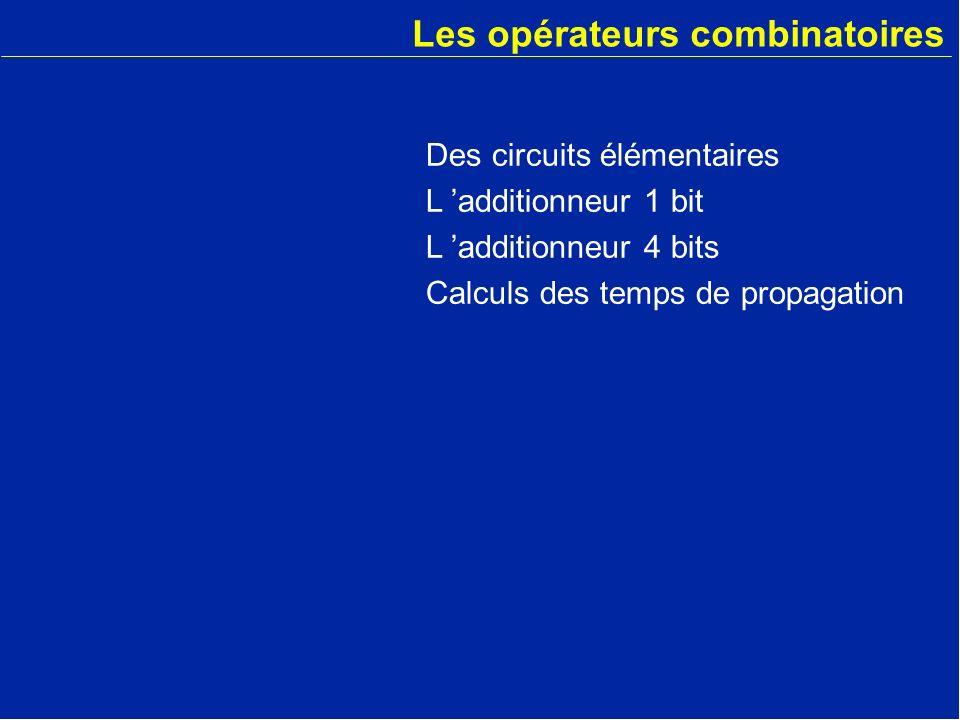 Les opérateurs combinatoires