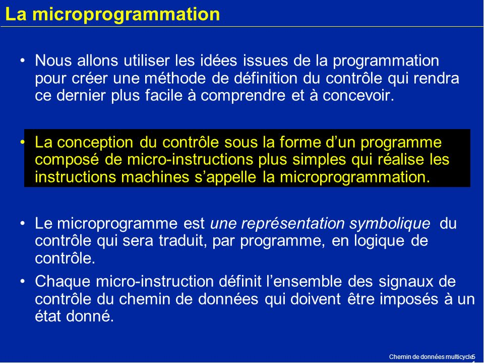 La microprogrammation