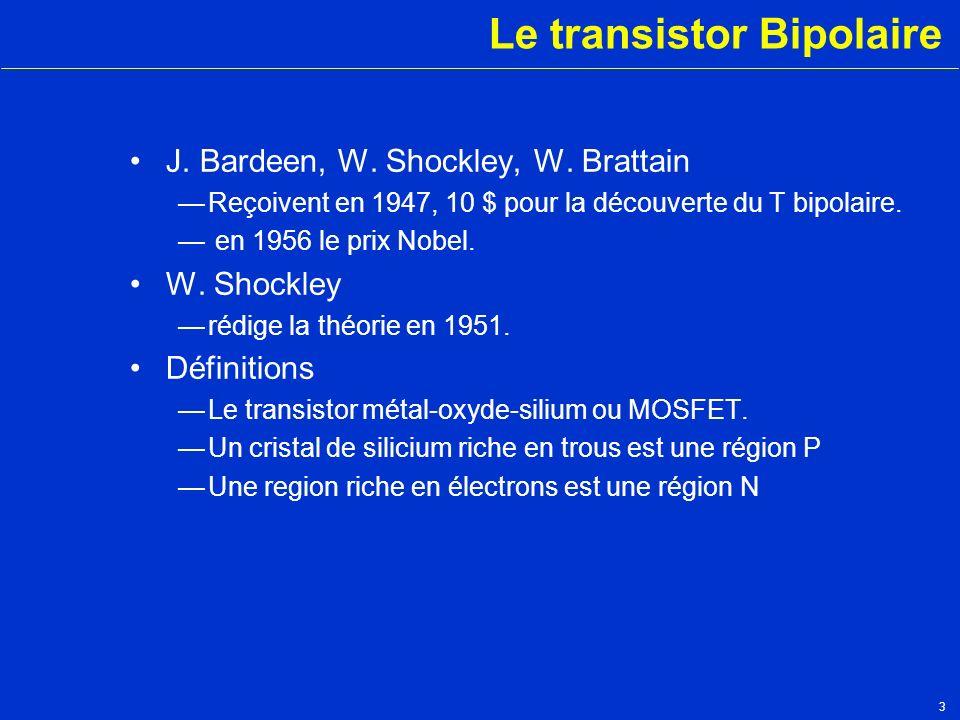 Le transistor Bipolaire