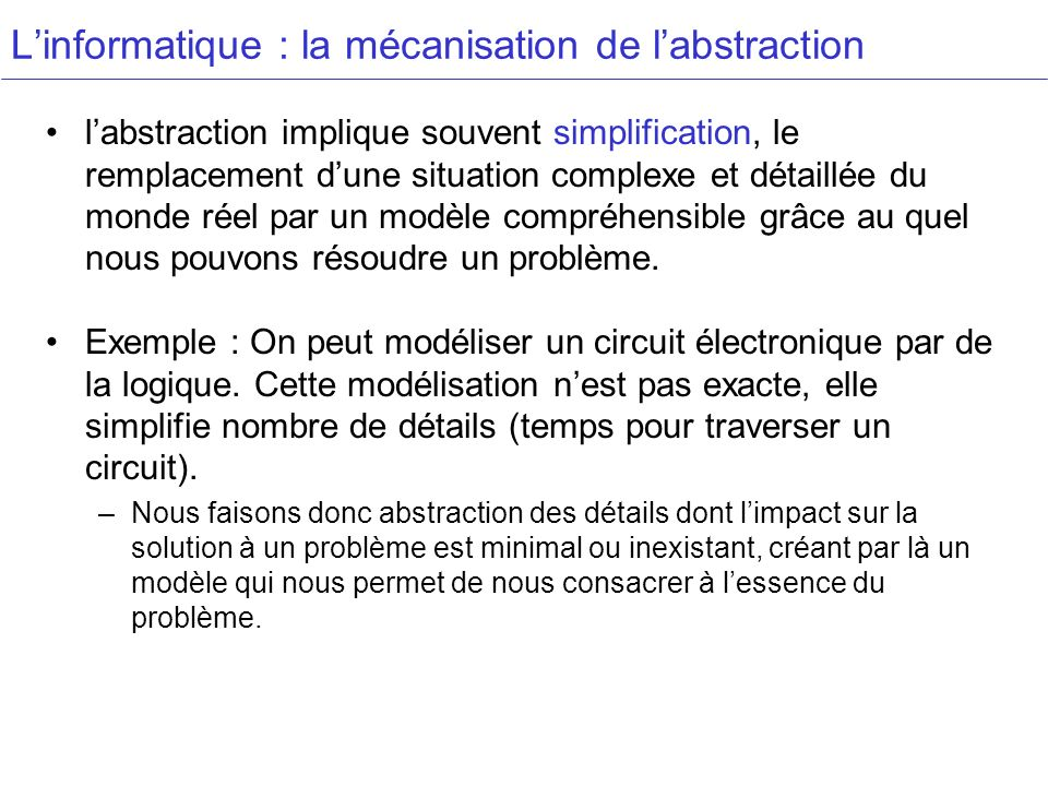 L'informatique : la mécanisation de l'abstraction