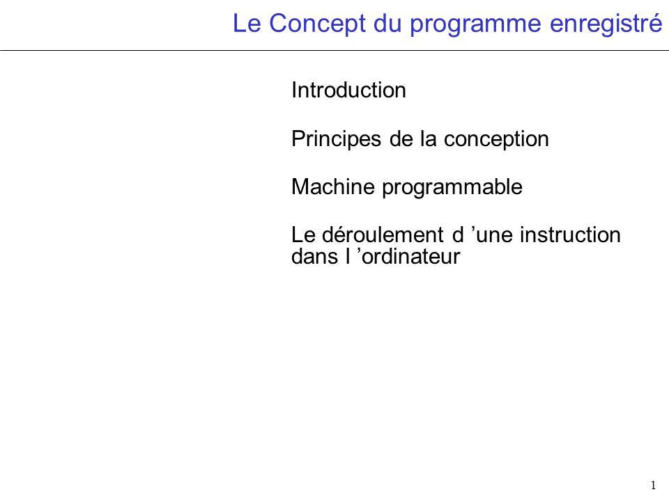 Le Concept du programme enregistré
