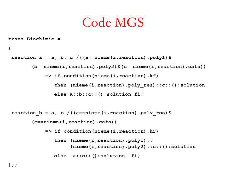 Code MGS trans Biochimie = {