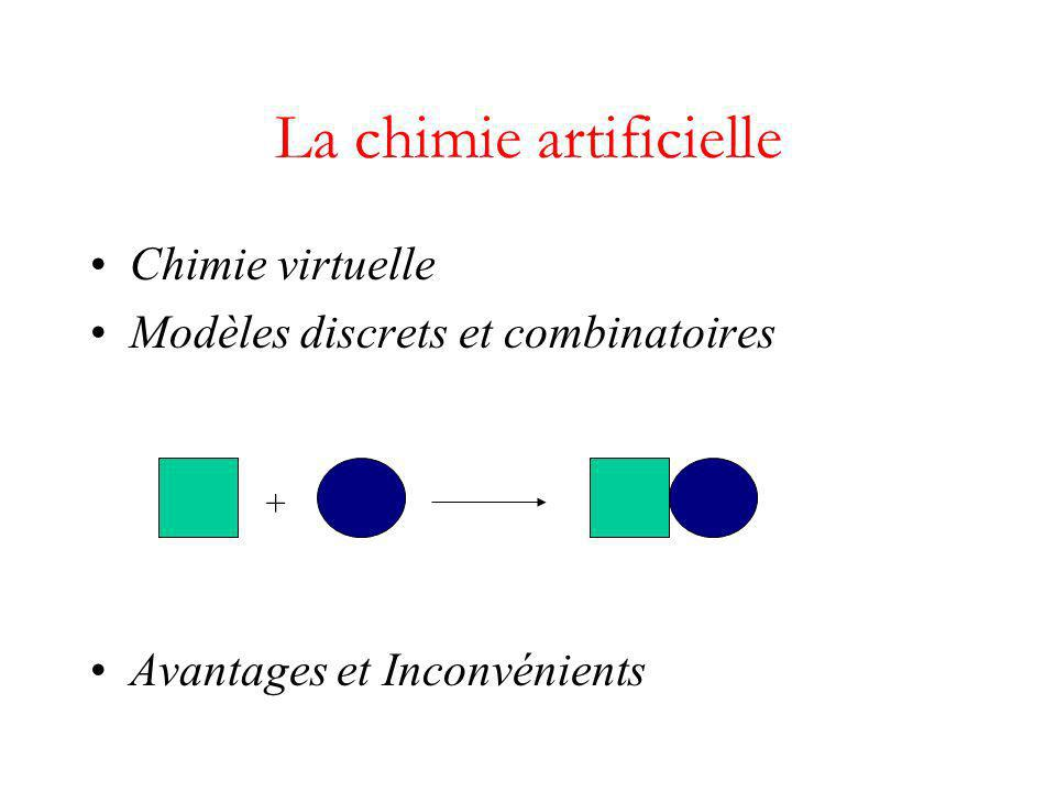 La chimie artificielle