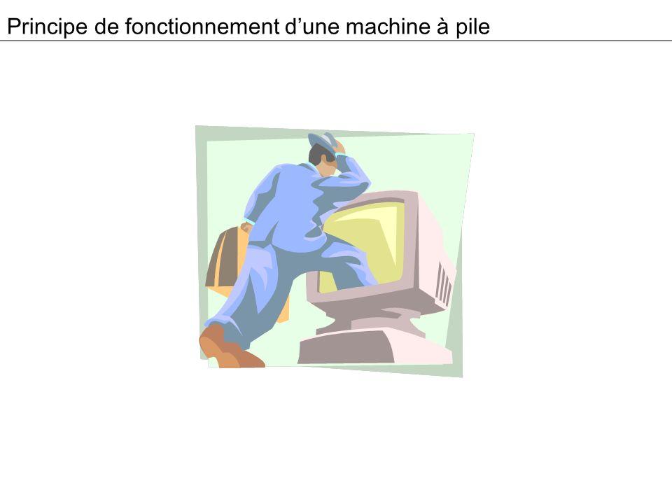 Principe de fonctionnement d'une machine à pile
