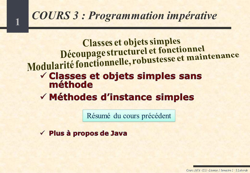 COURS 3 : Programmation impérative
