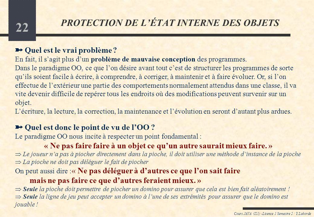 PROTECTION DE L'ÉTAT INTERNE DES OBJETS