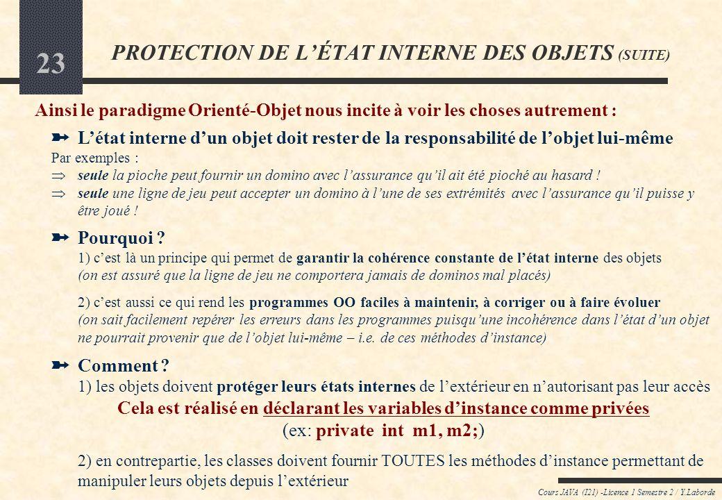 PROTECTION DE L'ÉTAT INTERNE DES OBJETS (SUITE)
