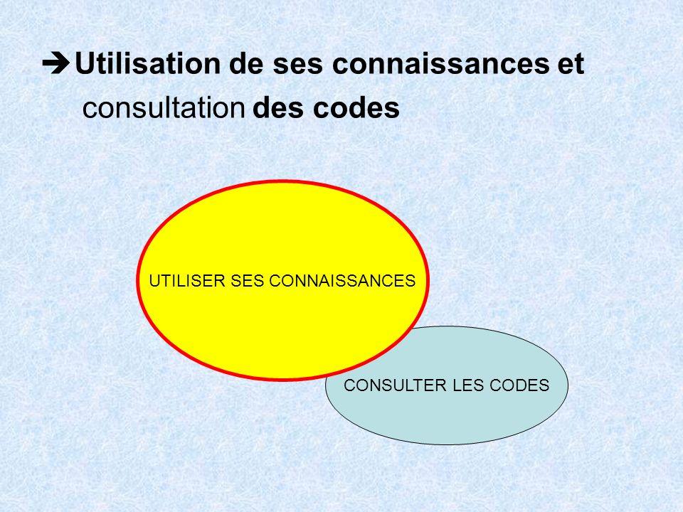 UTILISER SES CONNAISSANCES
