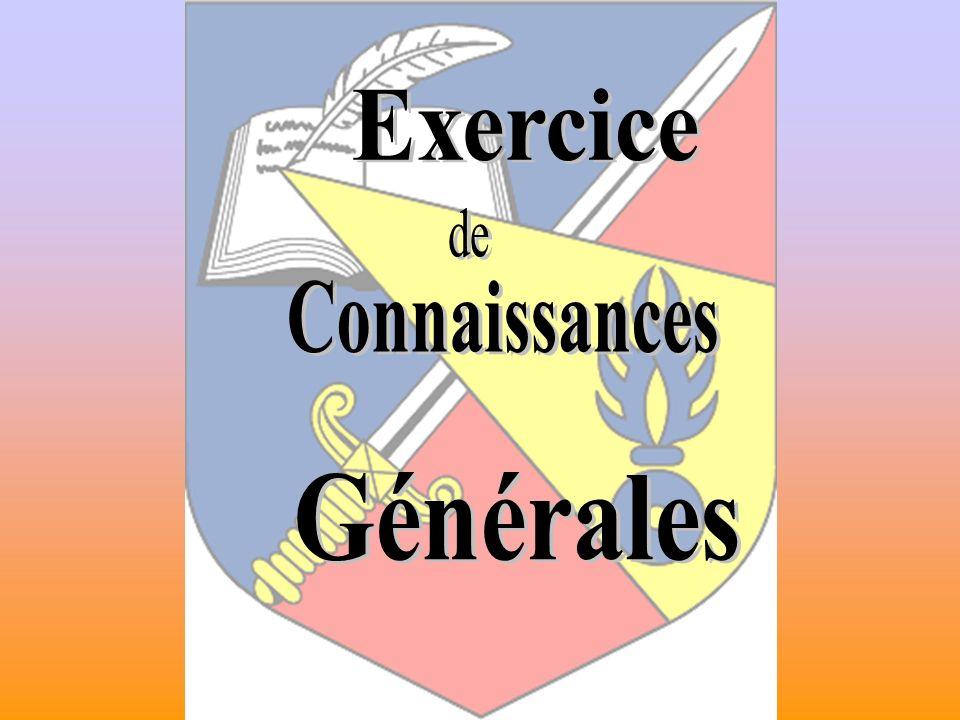 Exercice Connaissances Générales
