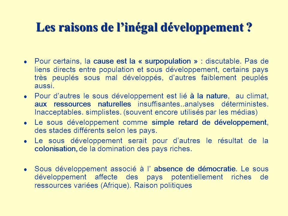Les raisons de l'inégal développement
