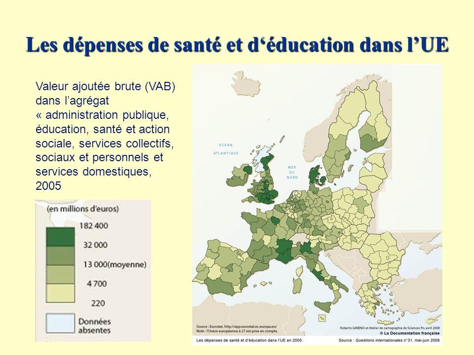 Les dépenses de santé et d'éducation dans l'UE