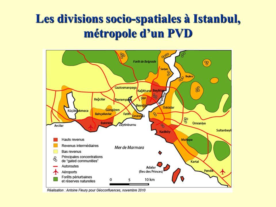 Les divisions socio-spatiales à Istanbul, métropole d'un PVD