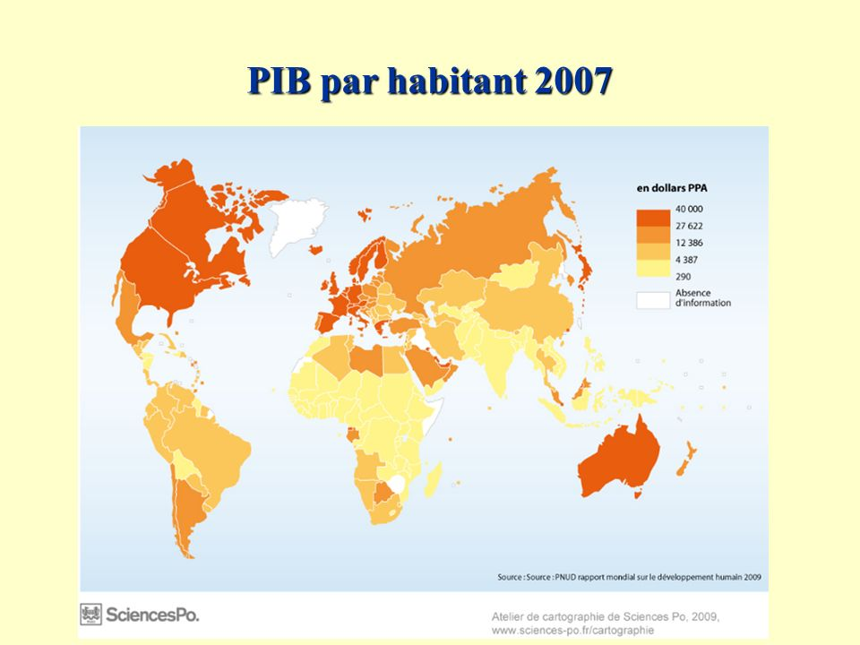 PIB par habitant 2007