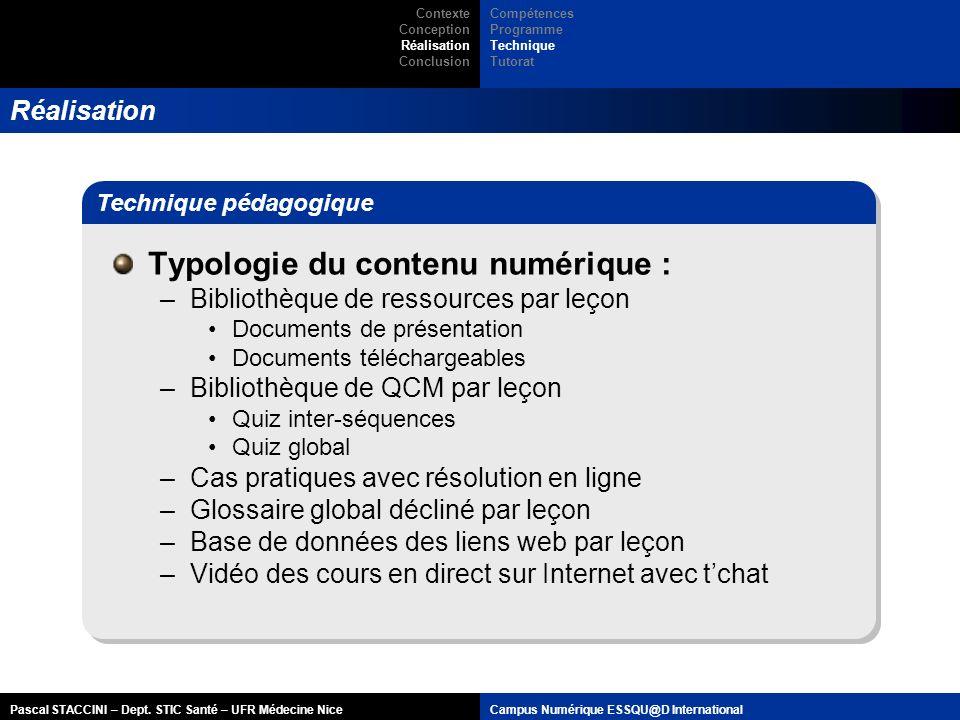 Typologie du contenu numérique :