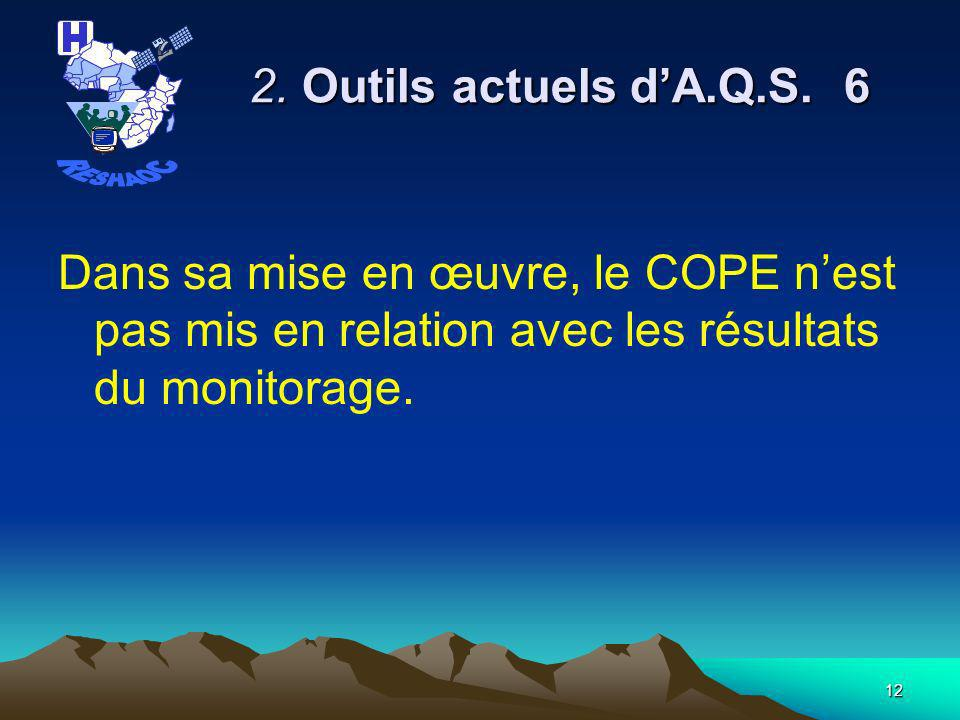 RESHAOC 2. Outils actuels d'A.Q.S. 6.