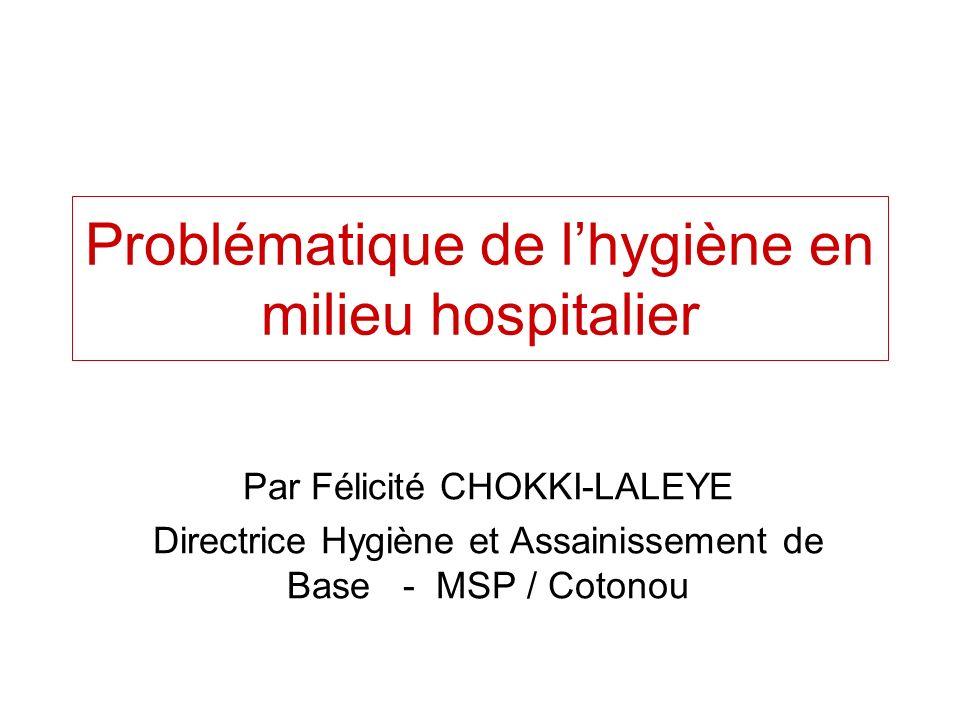 Problématique de l'hygiène en milieu hospitalier