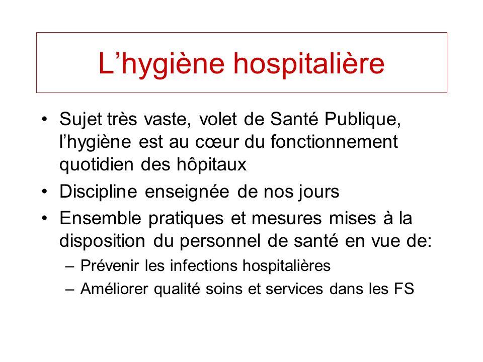 L'hygiène hospitalière