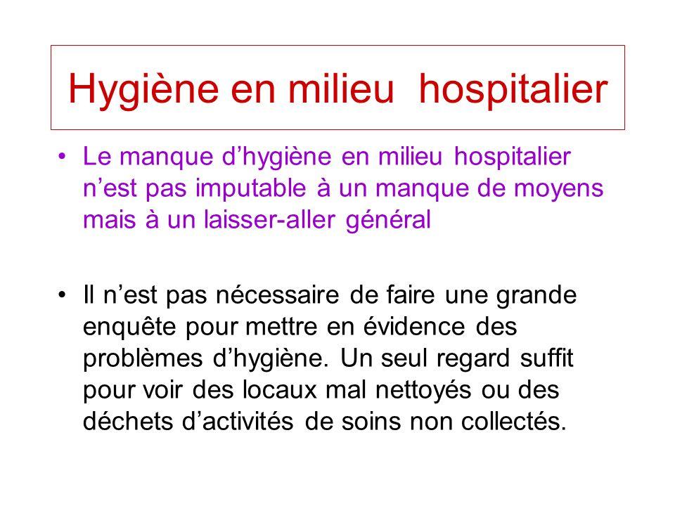 Hygiène en milieu hospitalier