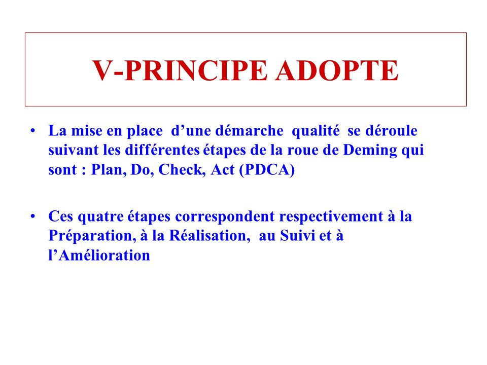 V-PRINCIPE ADOPTE