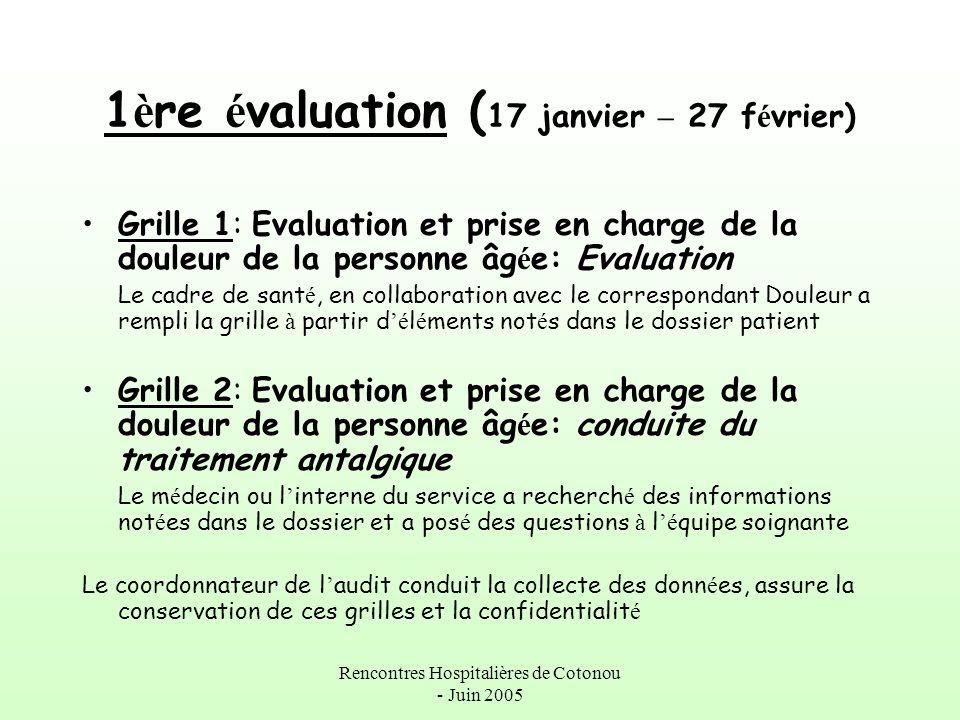 1ère évaluation (17 janvier – 27 février)