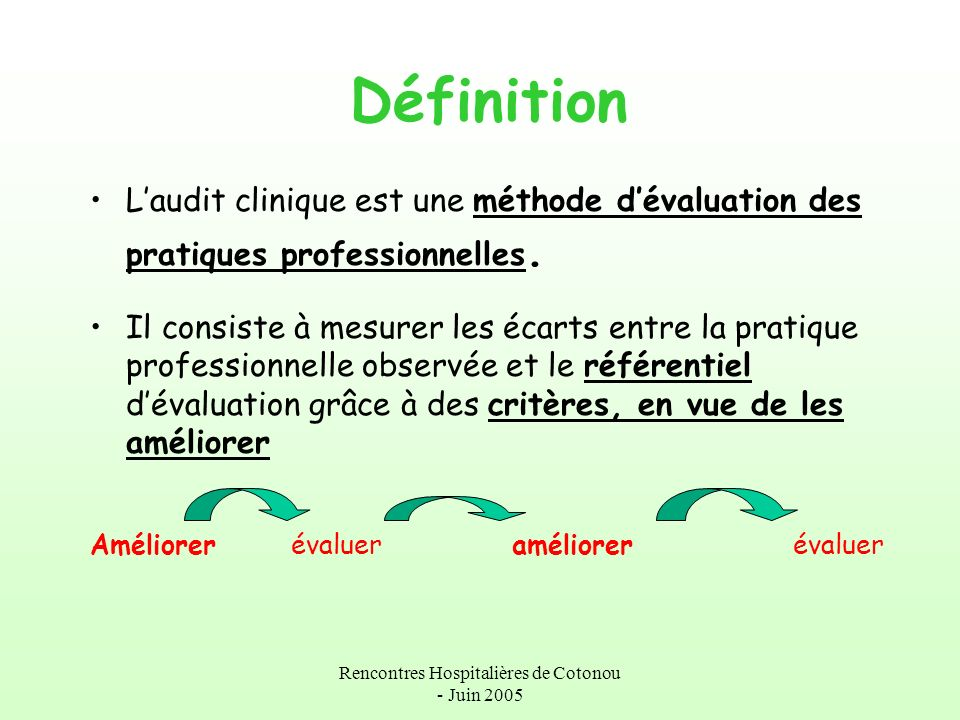 Rencontre clinique definition