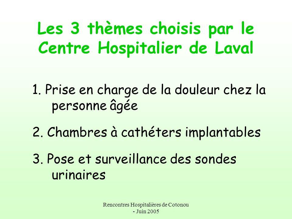 Les 3 thèmes choisis par le Centre Hospitalier de Laval