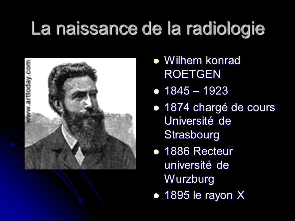 La naissance de la radiologie