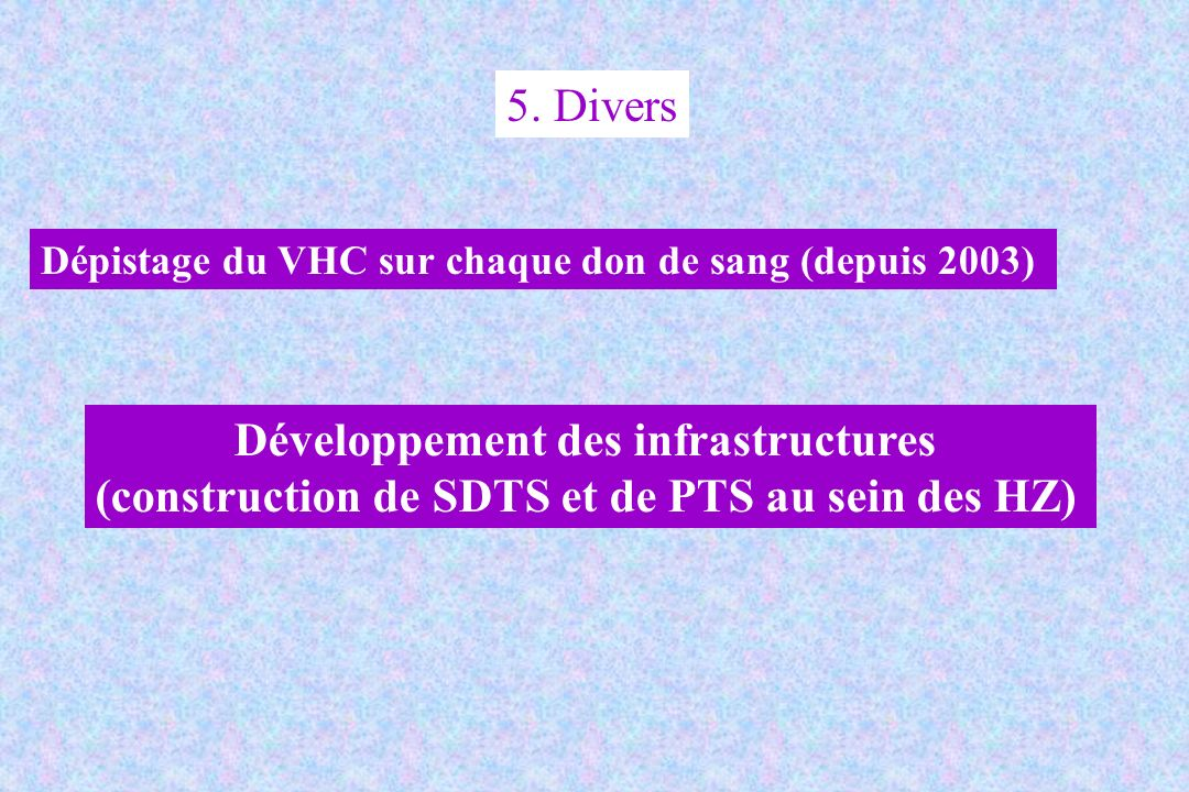 Développement des infrastructures