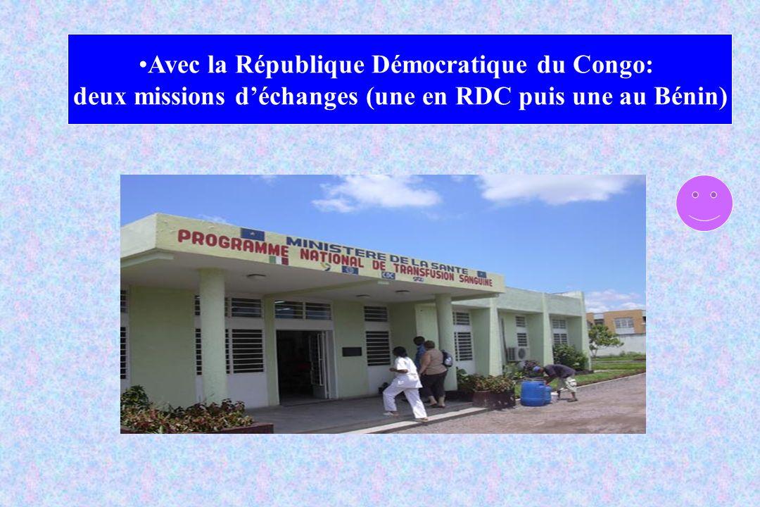 Avec la République Démocratique du Congo: