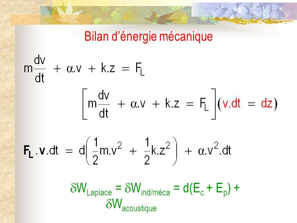 Bilan d'énergie mécanique