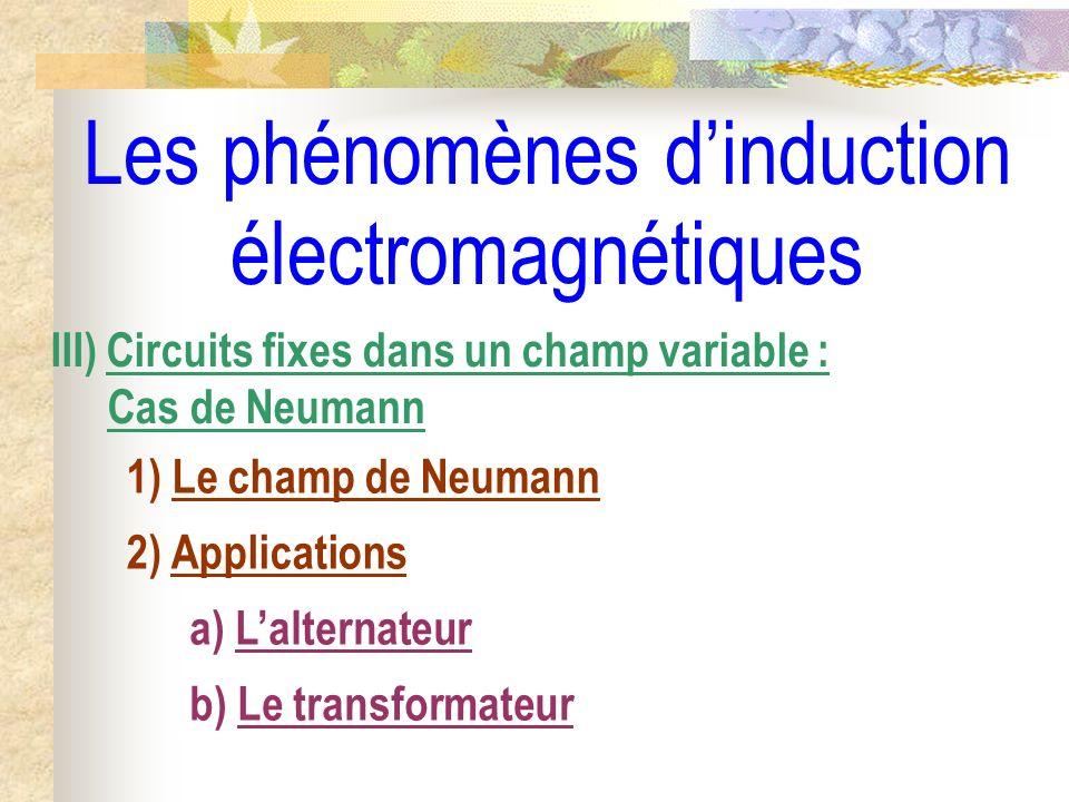 Les phénomènes d'induction électromagnétiques