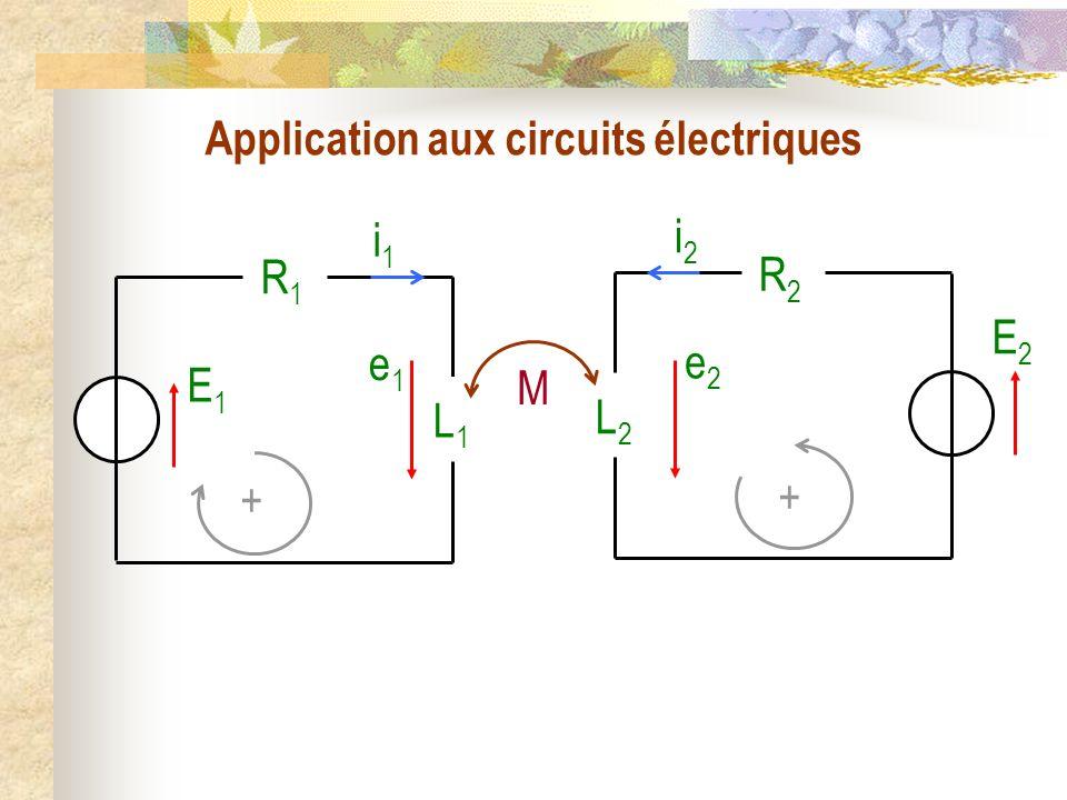 Application aux circuits électriques