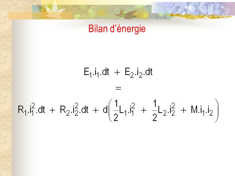 Bilan d'énergie