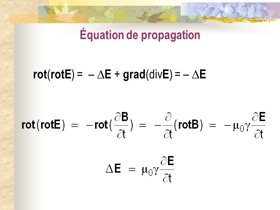 Équation de propagation