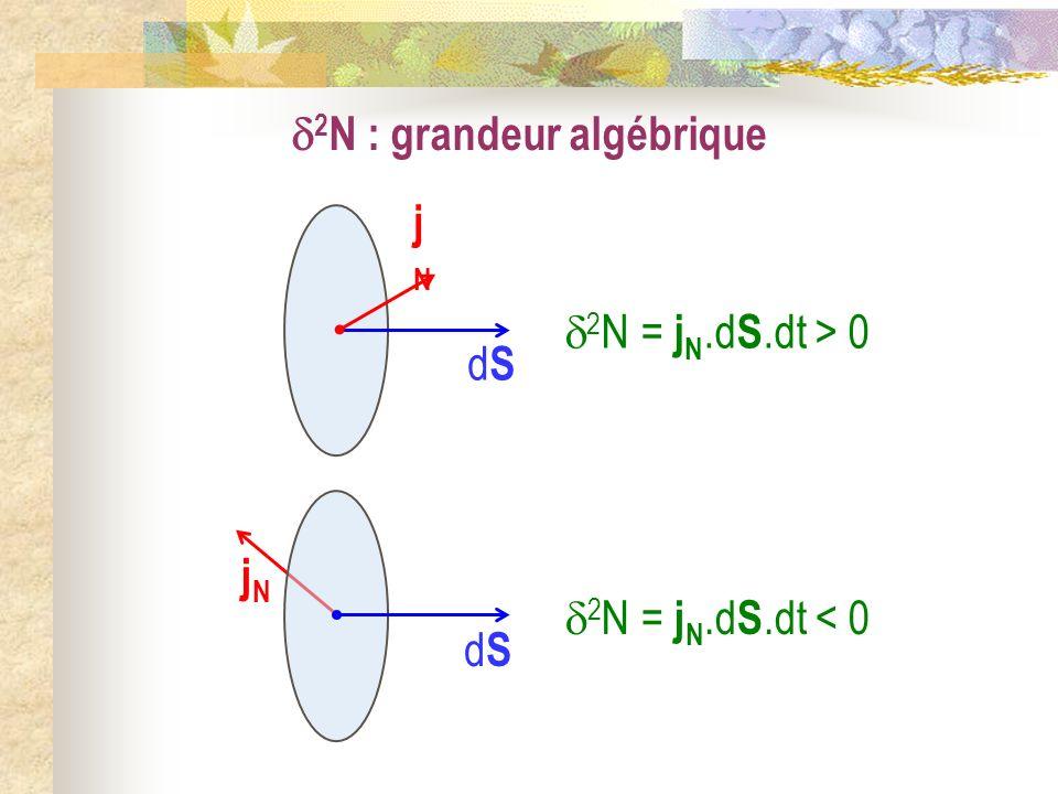 2N : grandeur algébrique
