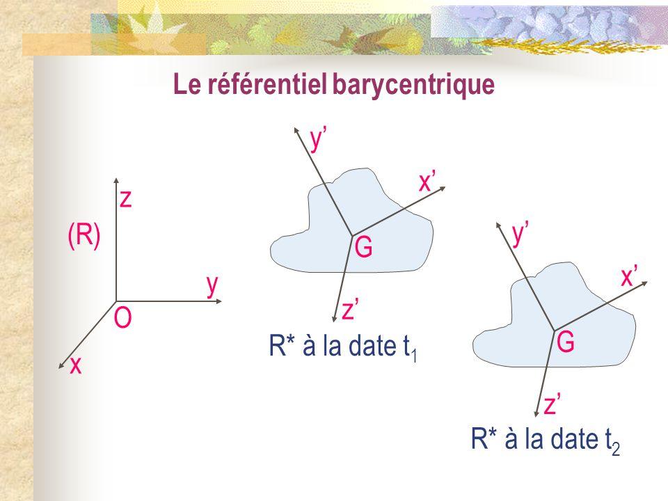 Le référentiel barycentrique