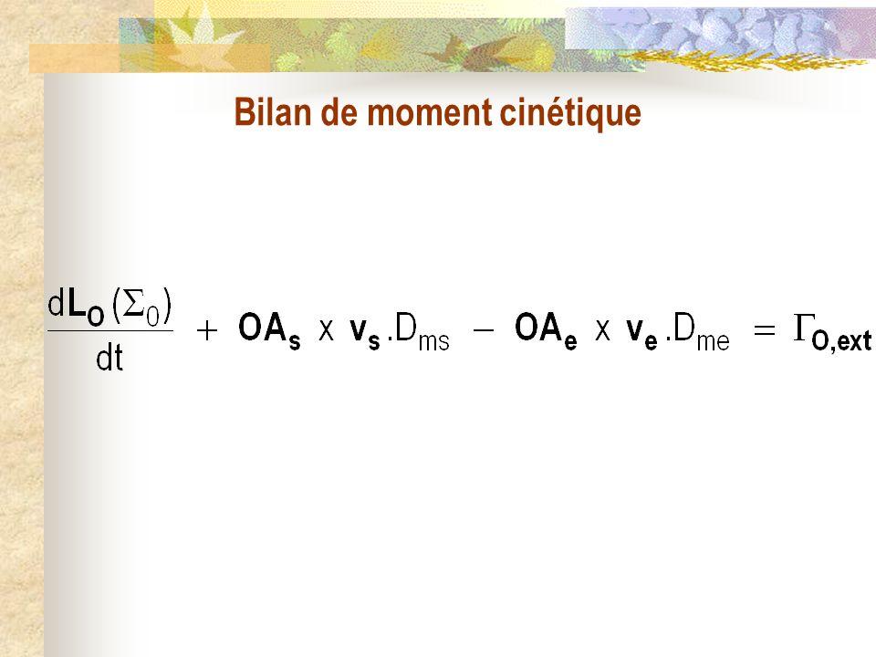 Bilan de moment cinétique