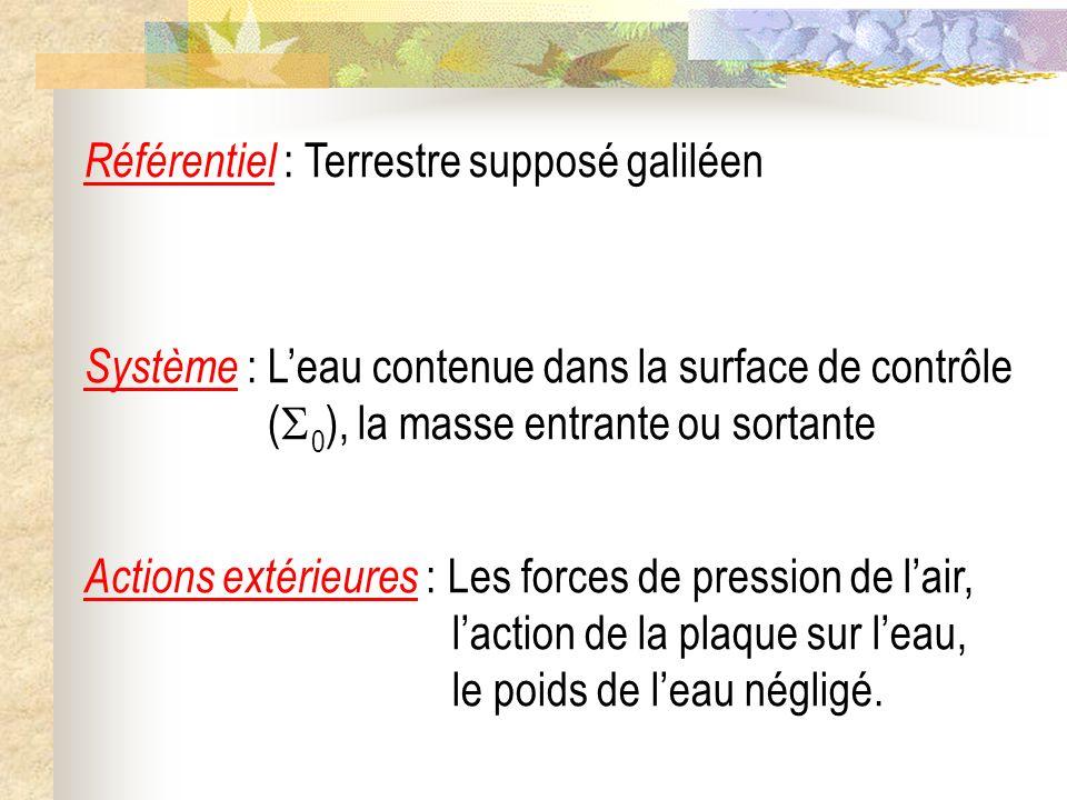 Référentiel : Terrestre supposé galiléen