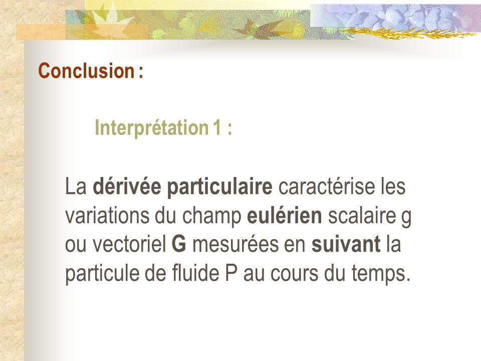 Conclusion : Interprétation 1 :