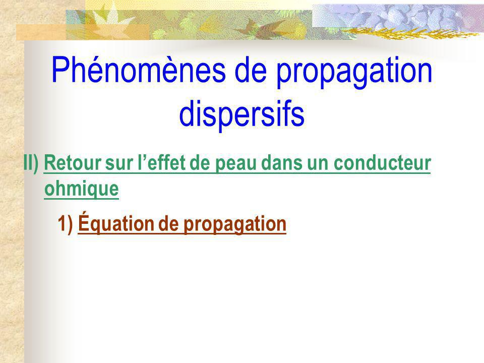 Phénomènes de propagation dispersifs