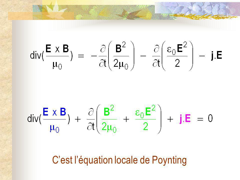 C'est l'équation locale de Poynting