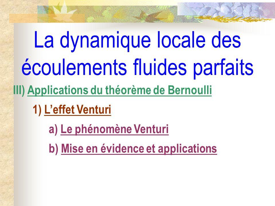 La dynamique locale des écoulements fluides parfaits