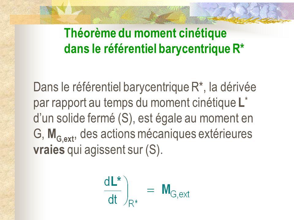 Théorème du moment cinétique dans le référentiel barycentrique R*