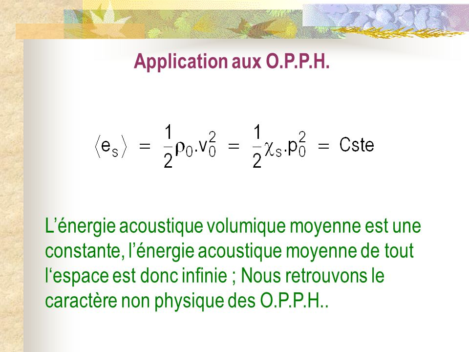 Application aux O.P.P.H.