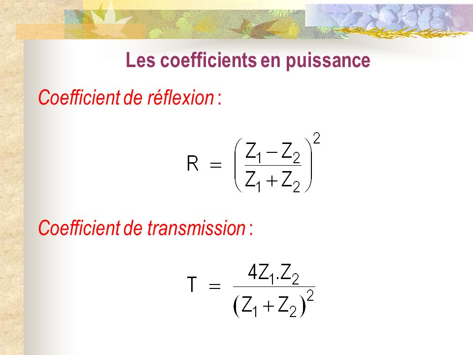 Les coefficients en puissance