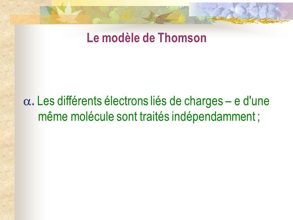 Le modèle de Thomson .