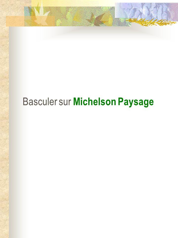 Basculer sur Michelson Paysage