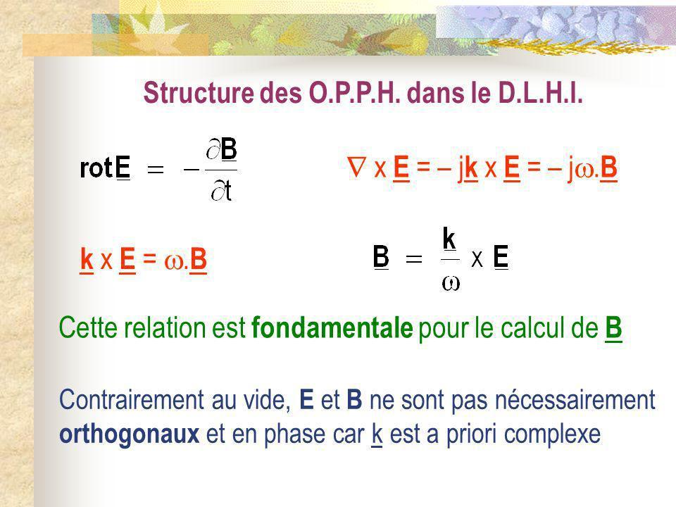 Structure des O.P.P.H. dans le D.L.H.I.