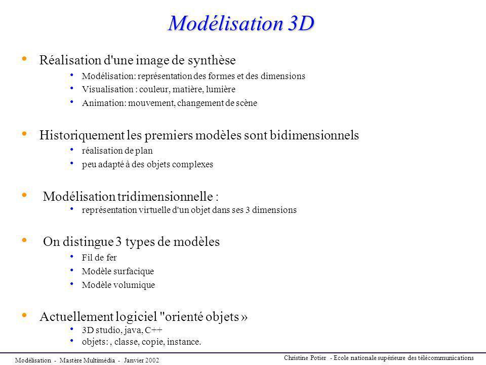 Modélisation 3D Réalisation d une image de synthèse